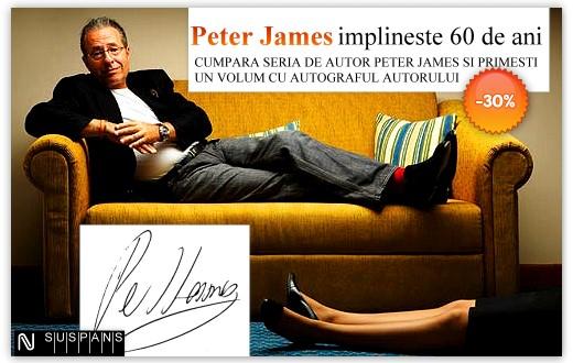 Peter James – carti cu autograf