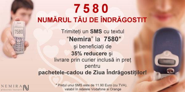 Îndrăgostiţi prin SMS – Noua ofertă Nemira