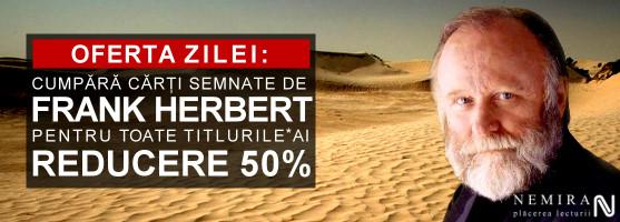 50% reducere la toate cărţile semnate de Frank Herbert