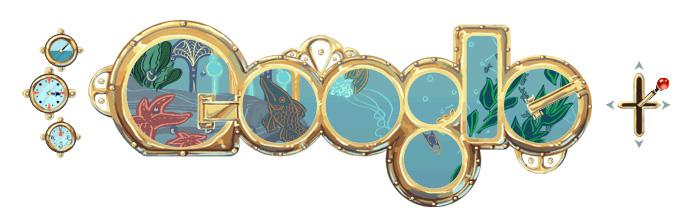 Jules Verne navighează pe Google