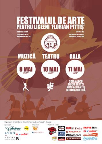 """Festivalul național de arte pentru liceeni """"Florian Pittiș"""""""