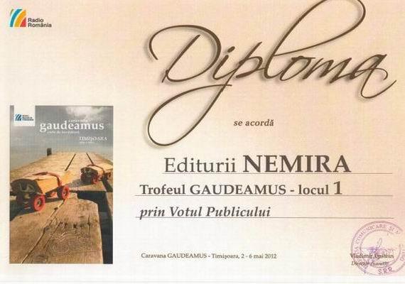 Nemira s-a clasat pe locul I, prin votul publicului, la Gaudeamus Timisoara
