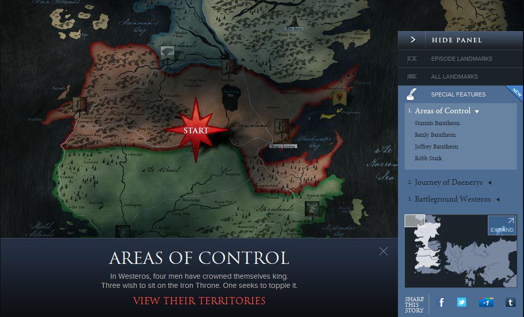 Hartă interactivă Westeros