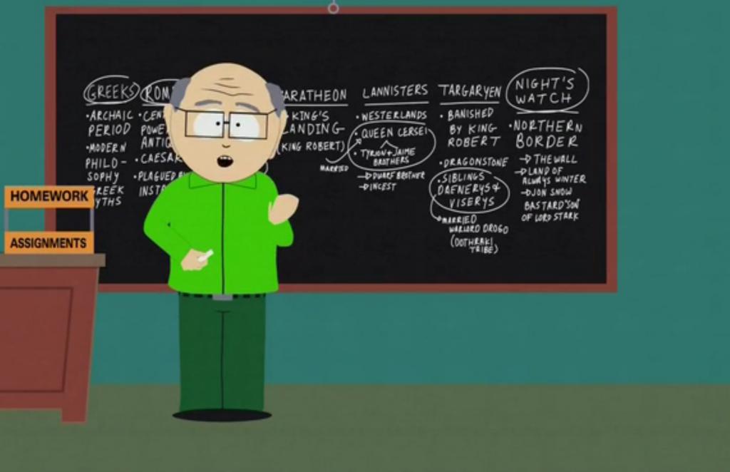 Urzeala Tronurilor in South Park