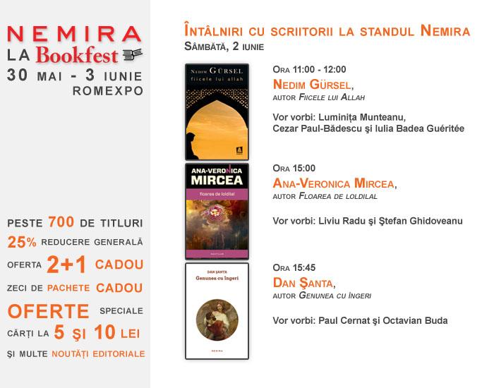 Lansări și oferte Nemira în cadrul Bookfest