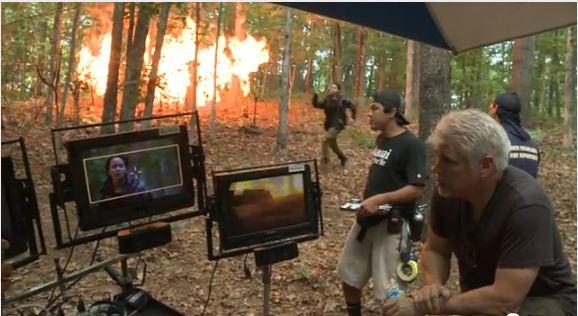 Imagini din timpul filmărilor la Jocurile Foamei