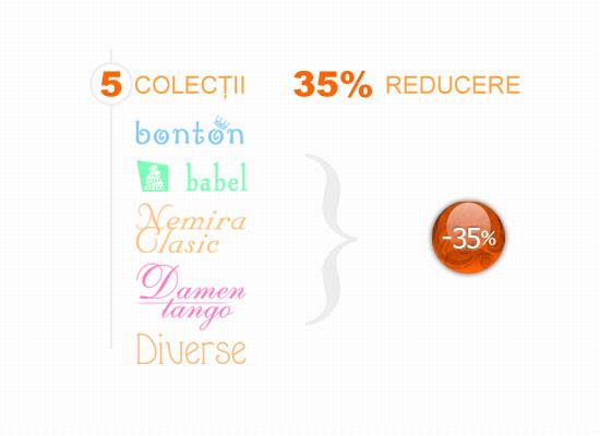 35% reducere la 5 colecții Nemira