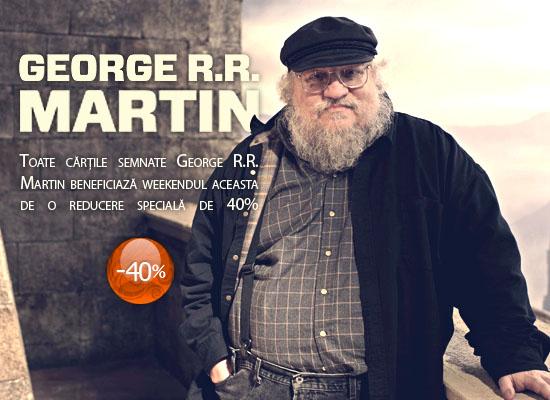 40% reducere la cărțile semnate de George R.R. Martin