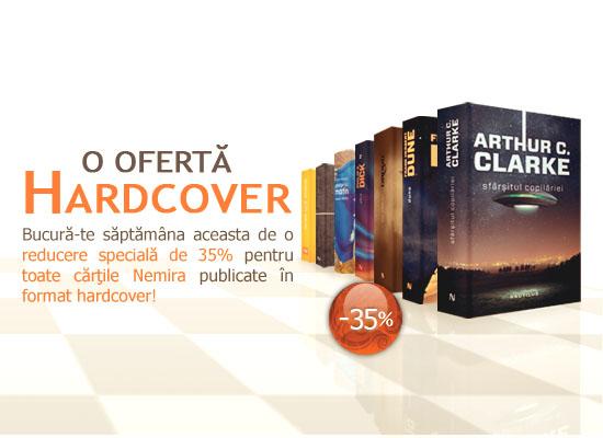 35% reducere pentru toate cărțile în format Hardcover
