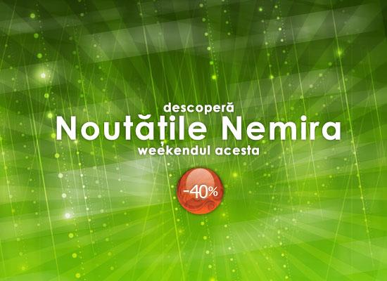 40% reducere la toate noutățile Nemira