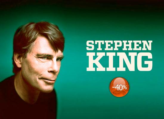 40% reducere la titlurile semnate de Stephen King