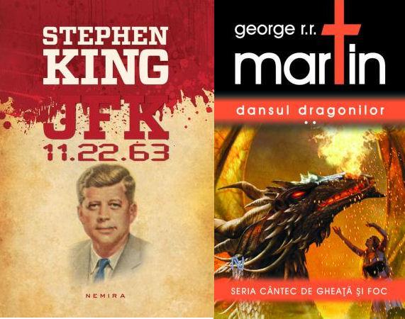 JFK 11.22.63 și Dansul dragonilor, nominalizate pentru cel mai bun roman