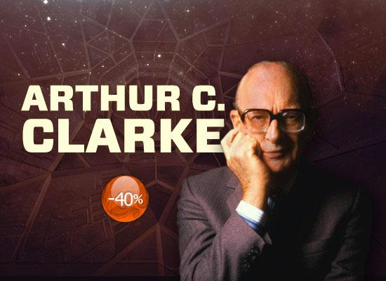 40% reducere la cărțile scrise de Arthur C. Clarke