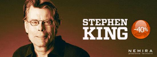 40% reducere la cărţile semnate Stephen King