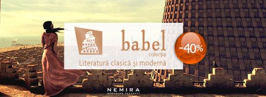 40% reducere la colecţia Babel