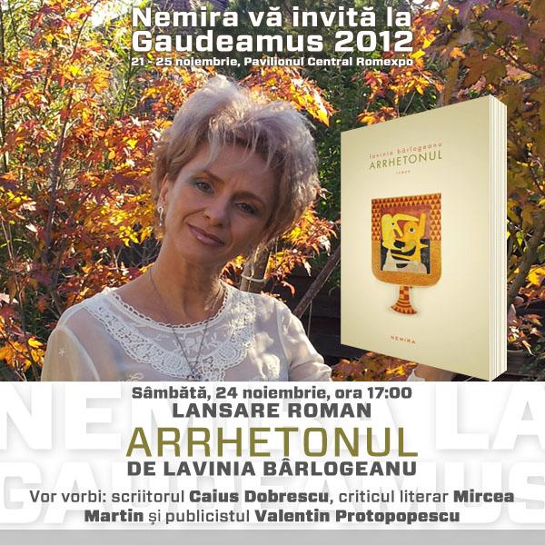 """Lansare """"Arrhetonul"""", de Lavinia Bârlogeanu"""
