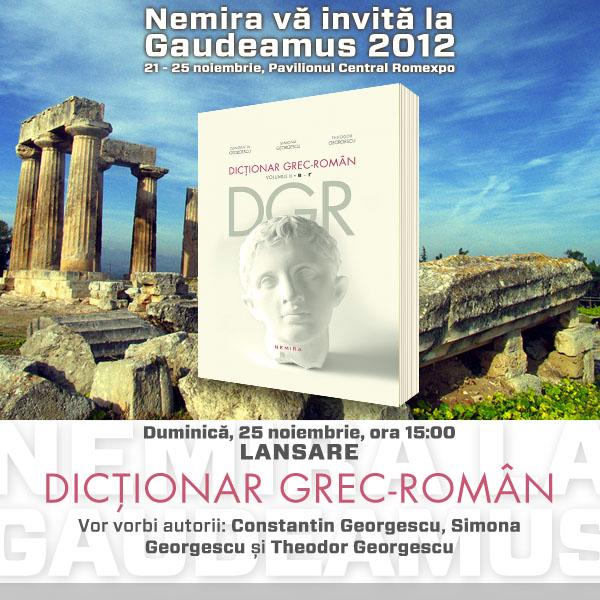 Lansare Dicţionar grec-român la Gaudeamus