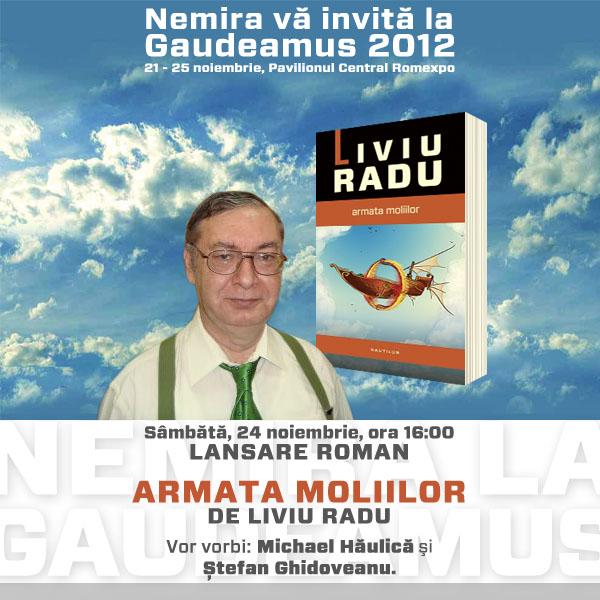 Lansare Armata moliilor, de Liviu Radu