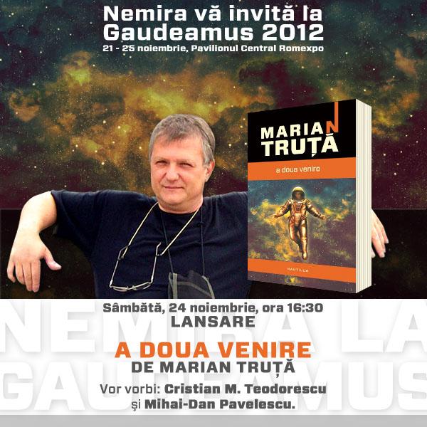 """Lansare """"A doua venire"""", de Marian Truţă"""