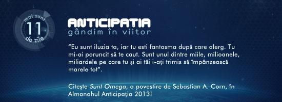 """Citește povestirea """"Sunt Omega"""" în Almanahul Anticipația 2013!"""