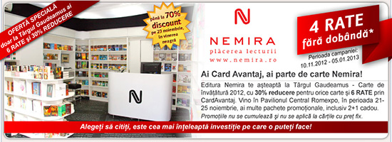 Ai Card Avantaj, ai parte de carte Nemira!