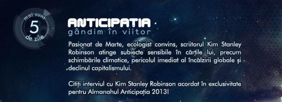 Citiți interviul cu Kim Stanley Robinson acordat în exclusivitate pentru Almanahul Anticipația 2013!