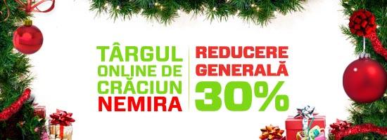 Vă invităm la Târgul Nemira de Crăciun din online