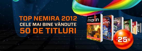 Citeşte 50 dintre cele mai bine vândute titluri la Nemira în 2012!
