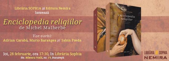 """Nemira lansează """"Enciclopedia religiilor"""" în Librăria Sophia"""