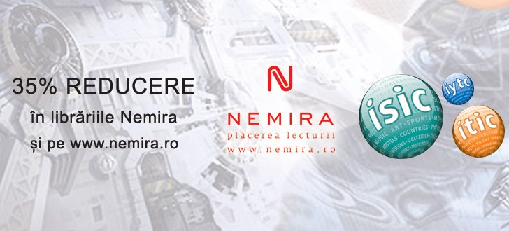 35% reducere în librăriile Nemira pentru posesorii de card ISIC