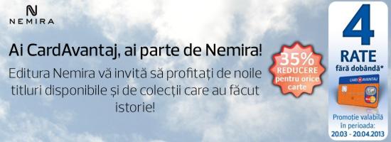 Ai Card Avantaj, ai parte de Nemira!