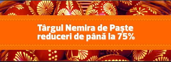 Nemira dă startul cadourilor de Paşte: reduceri de până la 75%
