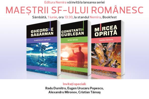 """Seria """"Maeştrii SF-ului românesc"""" se lansează oficial la Bookfest"""