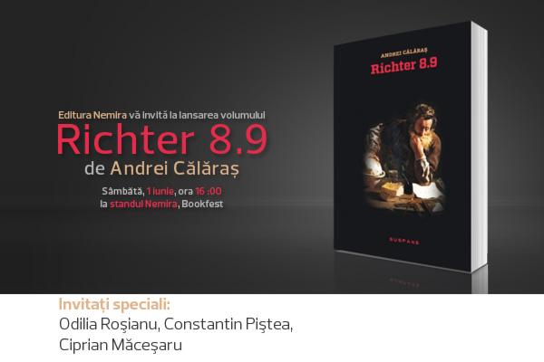 """Nemira lansează volumul """"Richter 8.9"""" de Andrei Călăraş"""