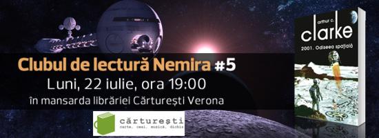 Cartea lunii iulie la Clubul de lectură Nemira – 2001: Odiseea Spaţială de Arthur C. Clarke