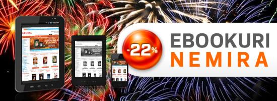 Ebookurile Nemira cu 22% reducere