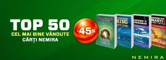 Top 50 cel mai bine vândute titluri Nemira: 45% reducere