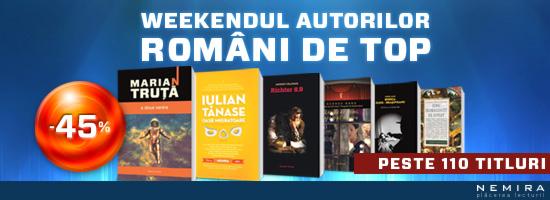 Weekendul autorilor români de top