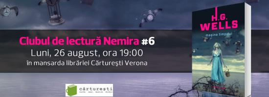 """Clubul de lectură Nemira revine pe 26 august cu volumul """"Maşina timpului"""" de H.G.Wells"""