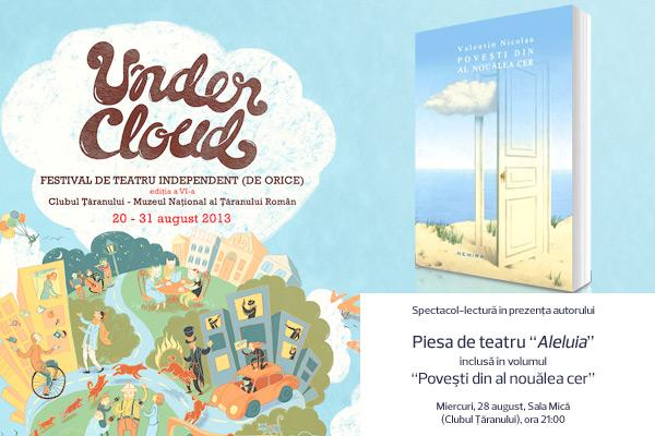 """""""Aleluia"""", spectacol-lectură la Undercloud – festival de teatru independent (de orice)"""