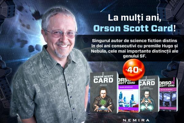 La mulţi ani, Orson Scott Card!