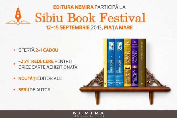 Editura Nemira se întâlneşte cu cititorii la Sibiu Book Festival