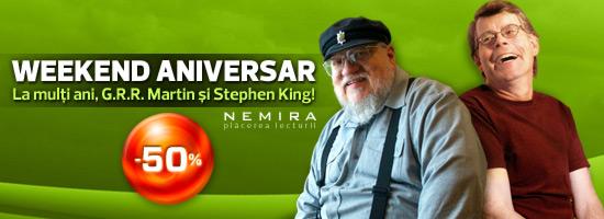 Weekend aniversar. La mulţi ani, George R.R. Martin şi Stephen King!