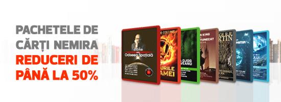 Reduceri de până la 50% la pachetele de cărţi Nemira