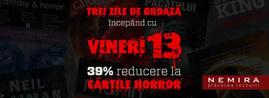39% reducere la cărţile horror în 3 zile de groază