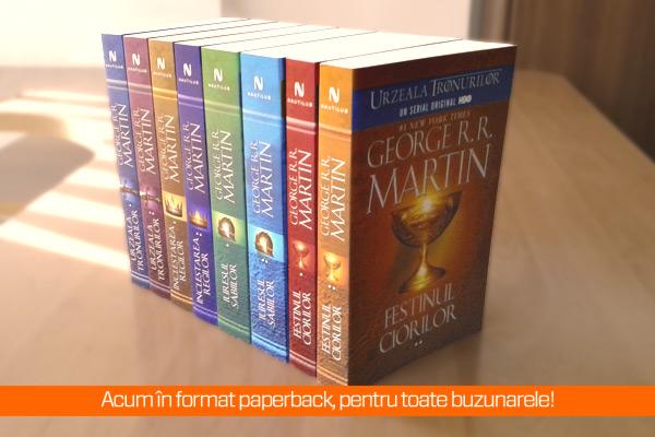 Un nou volum din Saga Cântec de gheaţă şi foc în format paperback