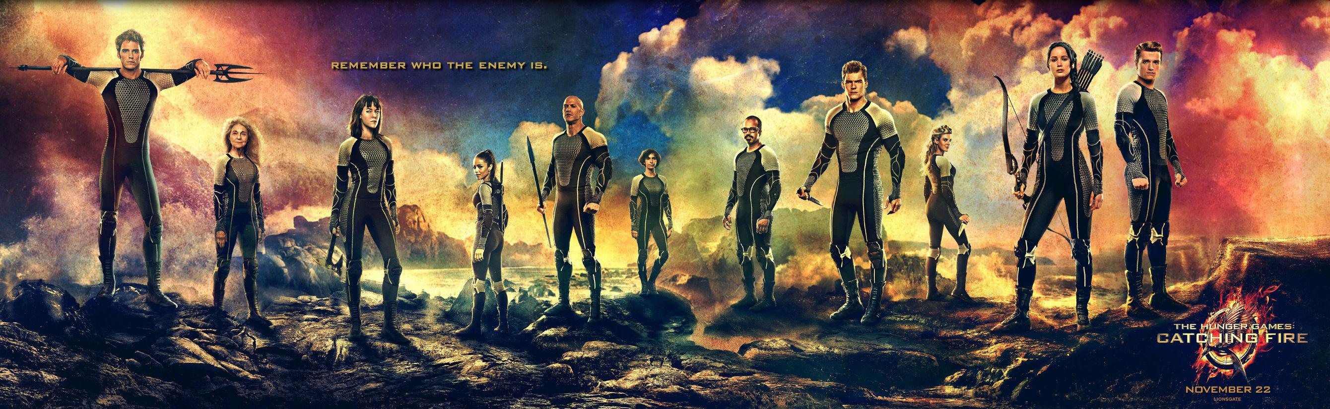 Un nou poster pentru filmul The Hunger Games: Catching Fire