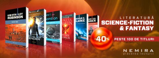 Literatura science-fiction & fantasy cu 40% reducere