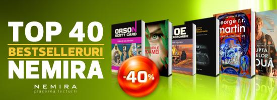 Cele mai citite 40 de cărți – 40% reducere