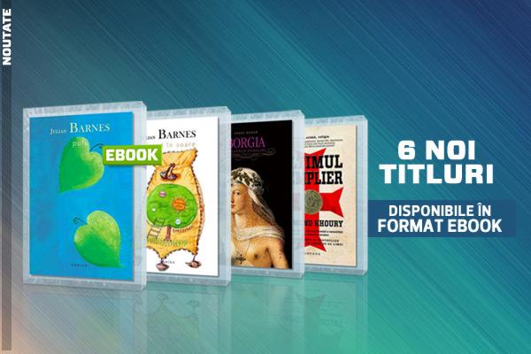 6 noi ebook-uri la Editura Nemira